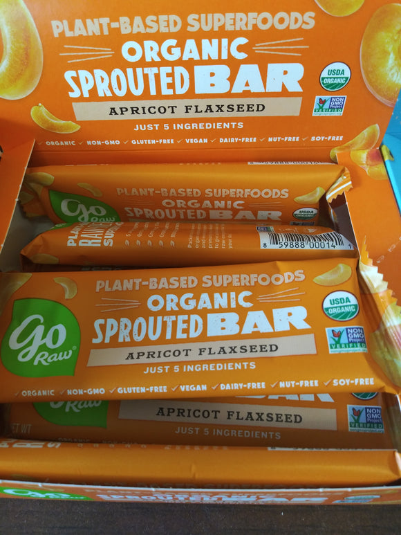 Organic Sprouted Apricot Flax Bar