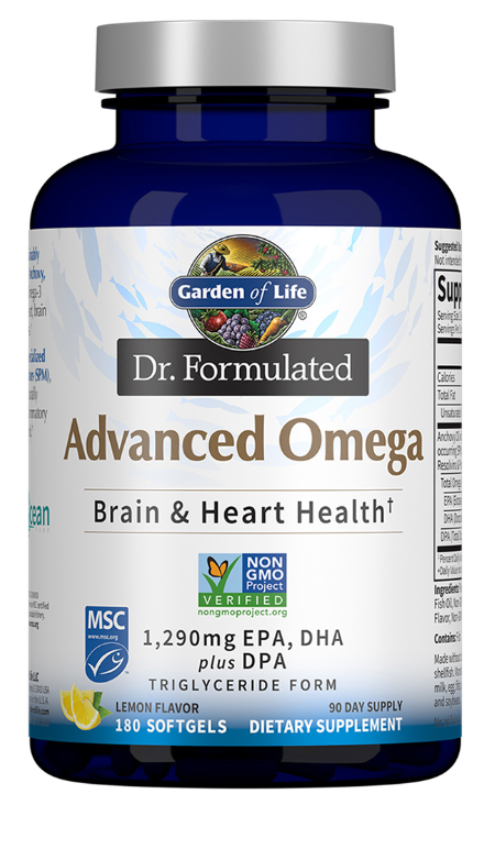 Advanced Omega Brain & Heart Health -- 180 Softgels