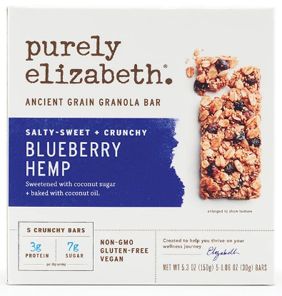 Purely Elizabeth Blueberry Hemp Granola Bar