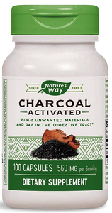 Activated Charcoal Capsules -- Nature's Way