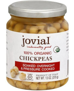 Organic Chickpeas in Water -- 12 oz Jovial Brand