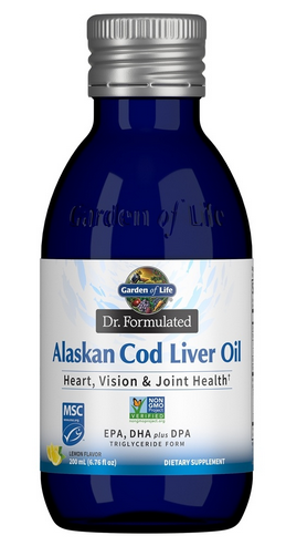 Alaskan Cod Liver Oil -- Omega 3's for Heary, Vision, & Joint Health