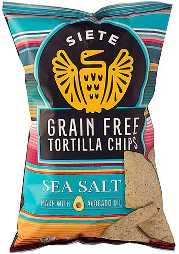 Grain Free Sea Salt Tortilla Chips -- Siete