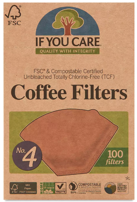 #4 Size Coffee Filters -- Unbleached