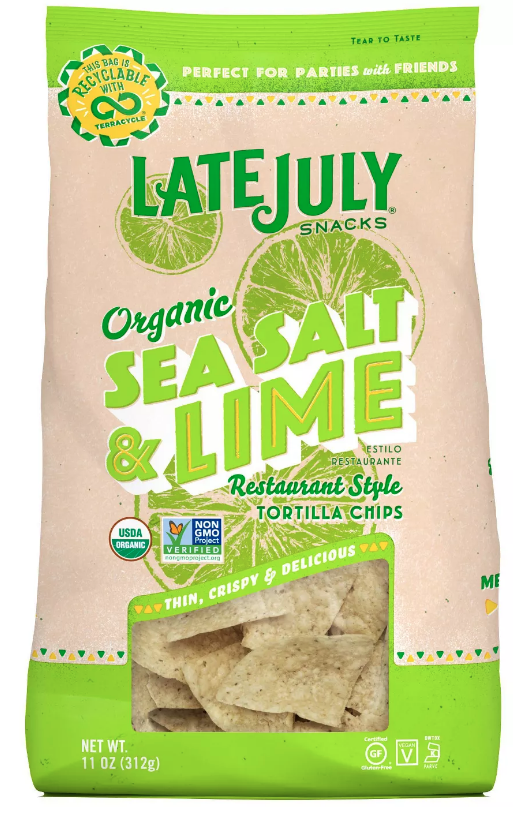 Late July Sea Salt & Lime Corn Tortilla Chips