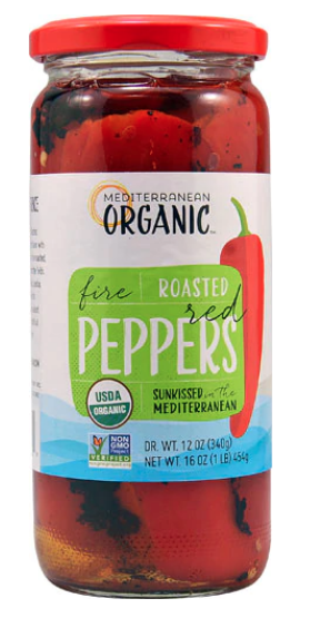 Organic Roasted Red Peppers -- Mediterranean Organic Brand