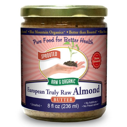 Sprouted Almond Butter from Organic European Truly Raw Almonds (16 oz)