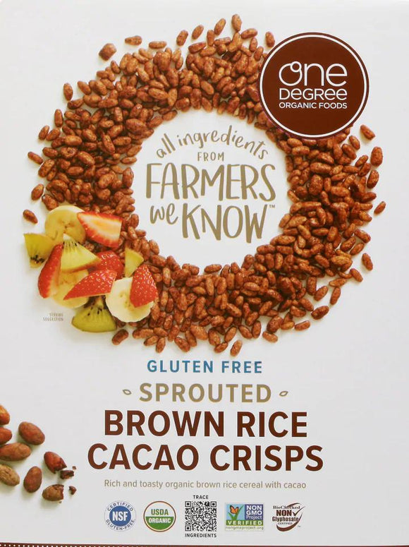 Sprouted Brown Rice Cacao Crisps -- Gluten Free
