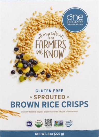 Sprouted Brown Rice Crisps -- Gluten Free