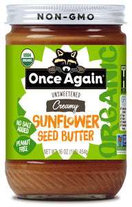 Sunflower Butter -- Once Again (16oz)