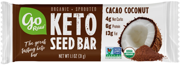 Keto Cacao Coconut Sprouted Protein Bar