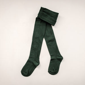 Kids Bottle Green School Tights