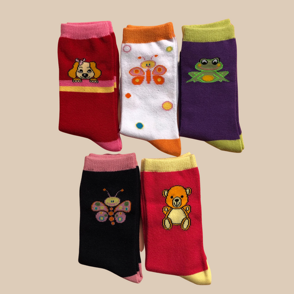 Animal Nature Kids Sock | 5 Pack