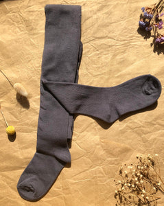 charcoal grey cotton tights for baby and children