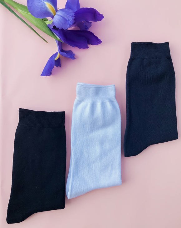 Cotton Rich Socks - Unisex 3 Pack