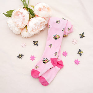 Baby Busy Bee Cotton Tights