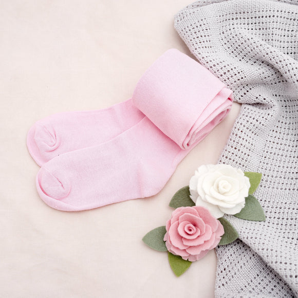 Kids Pink Cotton Tights