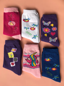 Nature Kids Socks | 6 Pack