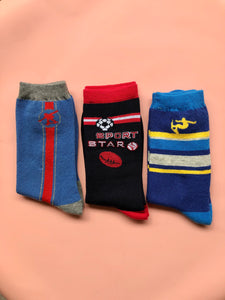 Boys Assorted Sports Socks | 3 Pack