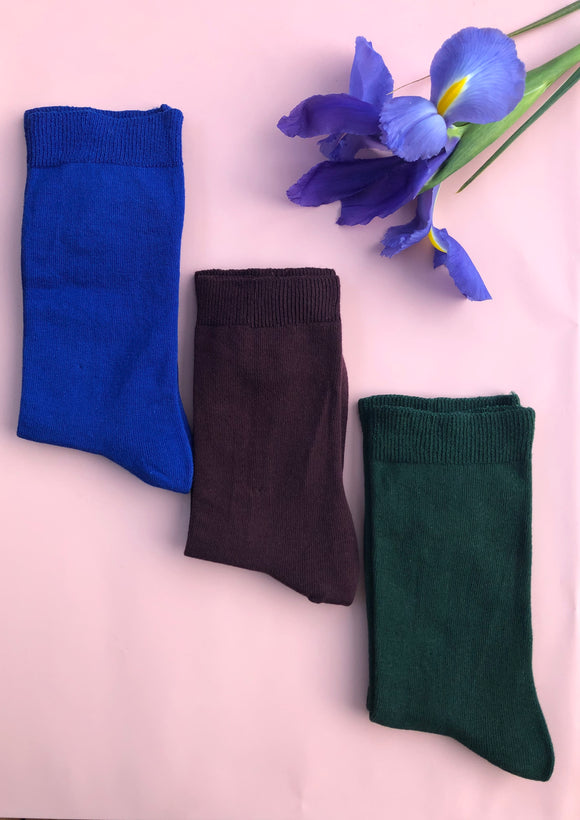 Loose Top Cotton Socks - Unisex 3 Pack