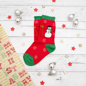 Christmas Socks | Kids + Adults | Snowman Pair
