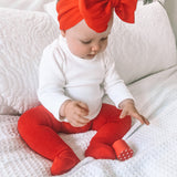 Baby Red Cotton Tights