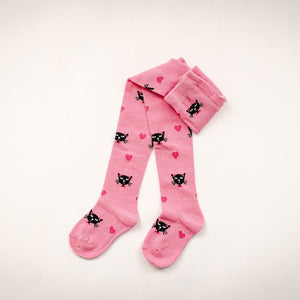 Baby Black Cat Cotton Tights