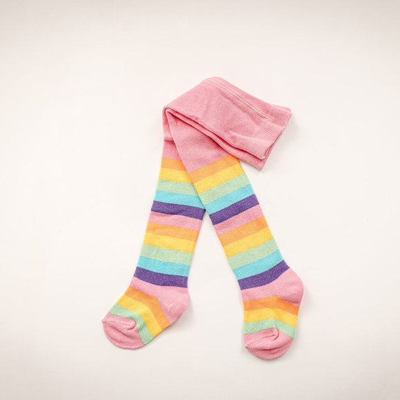 Baby Stripy Rainbow Cotton Tights