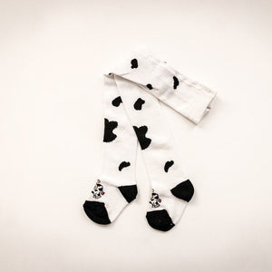 Kids Moo Cow Cotton Tights