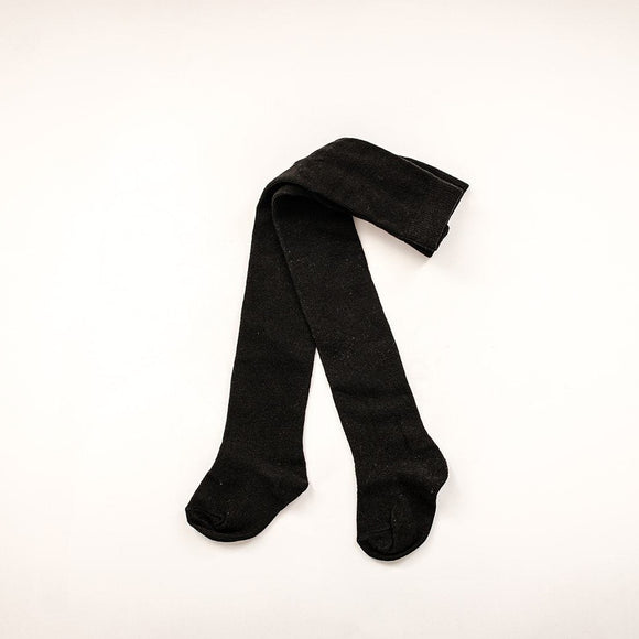 Kids Black Cotton Tights