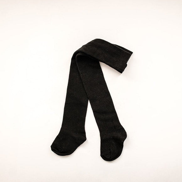 Baby Black Cotton Tights