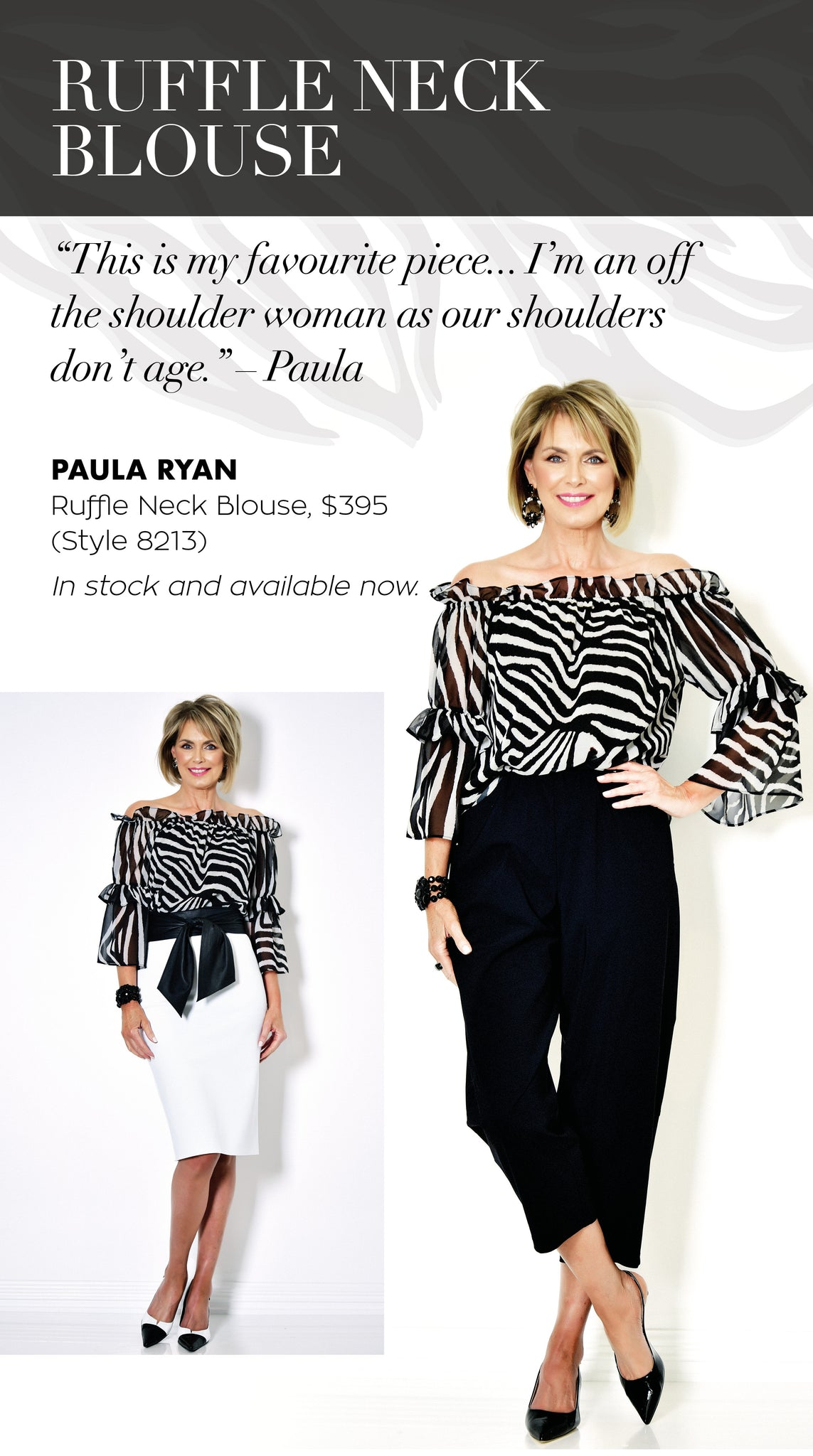 Paula Ryan Off the Shoulder Blouse