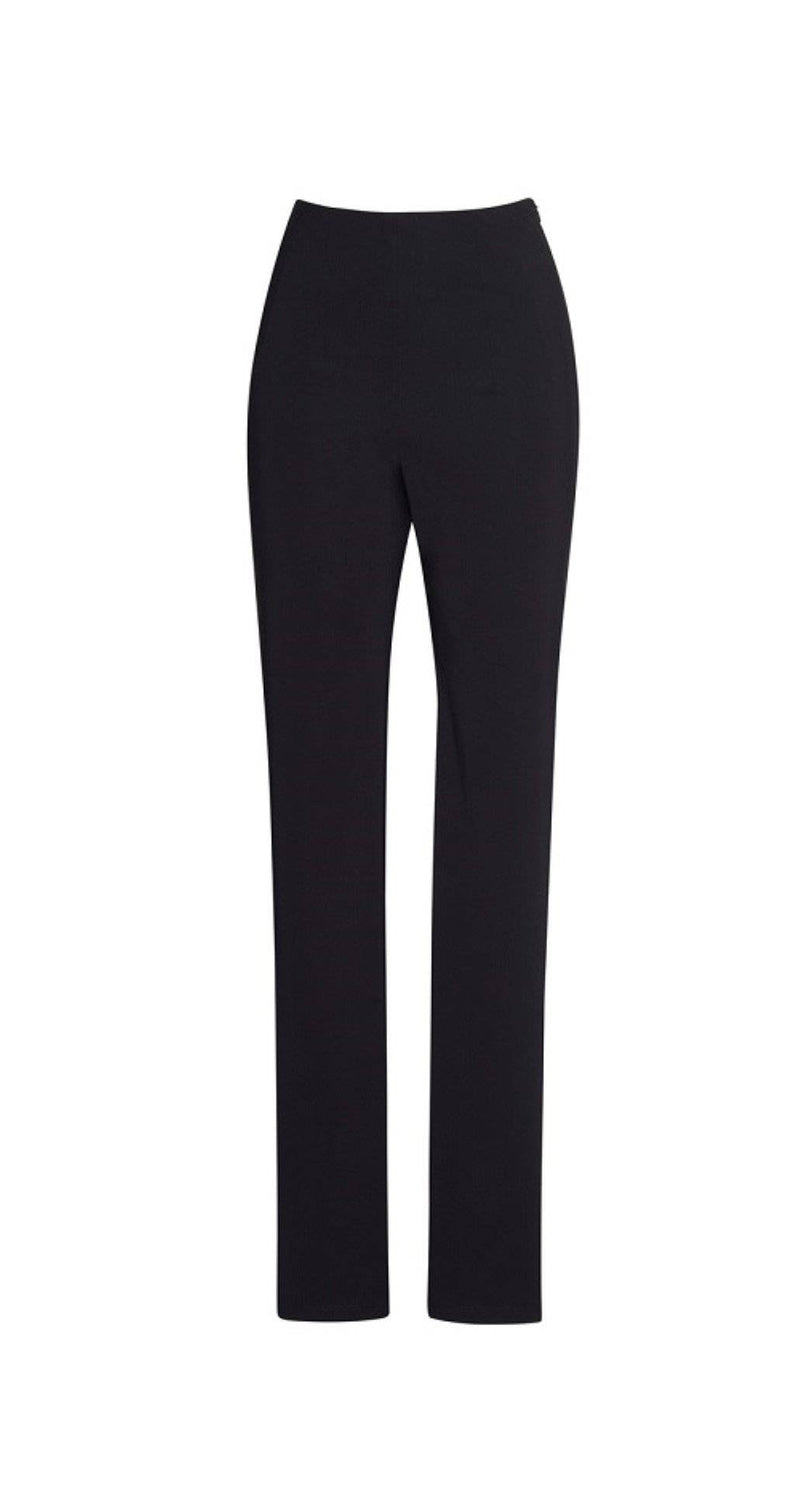 PAULA RYAN ESSENTIALS Waisted Cigarette Pant - Microjersey - Pant - Paula Ryan Essentials - Paula Ryan