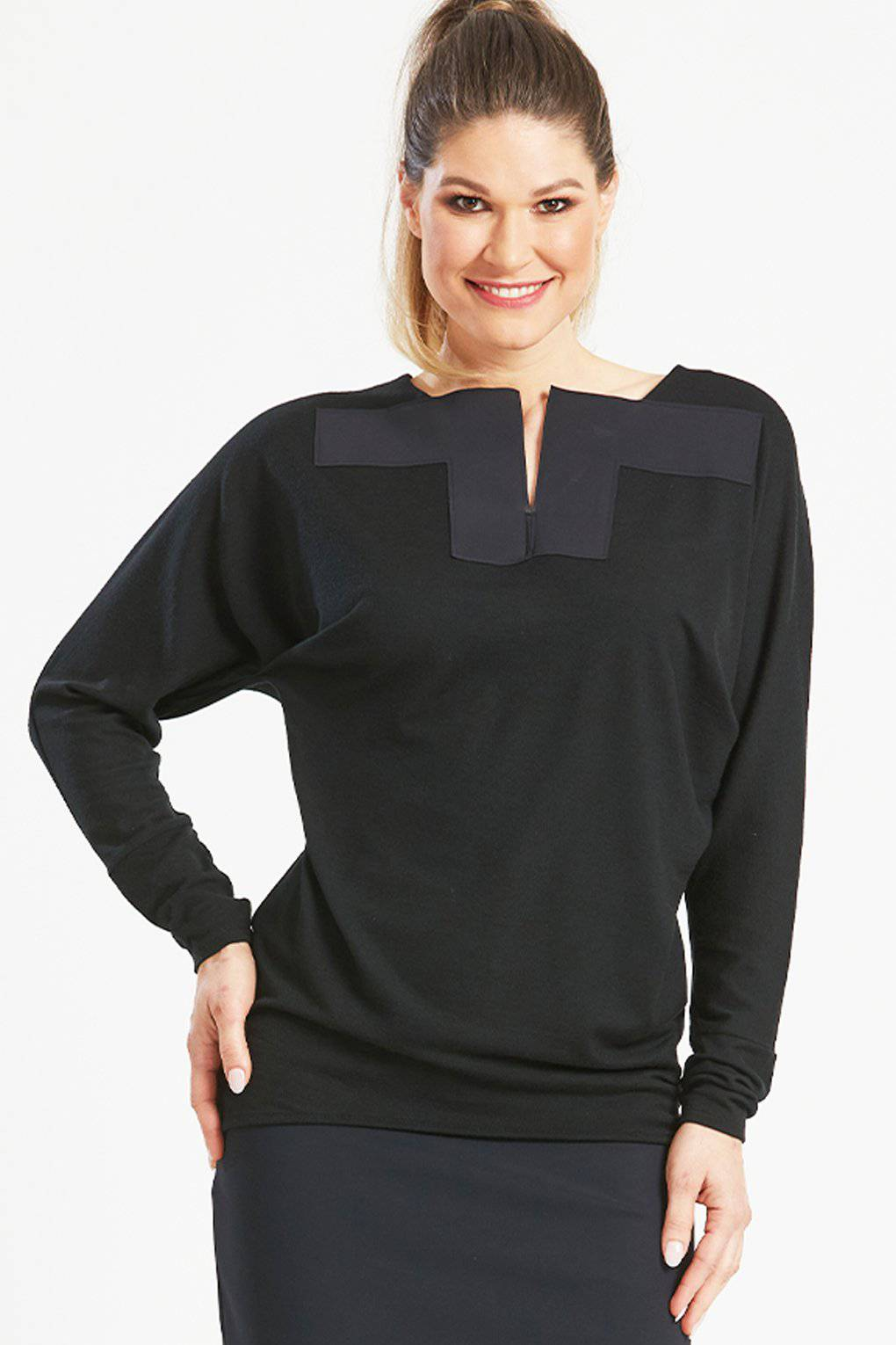 PAULA RYAN Square Neck Magyar Top - Merino - Paula Ryan