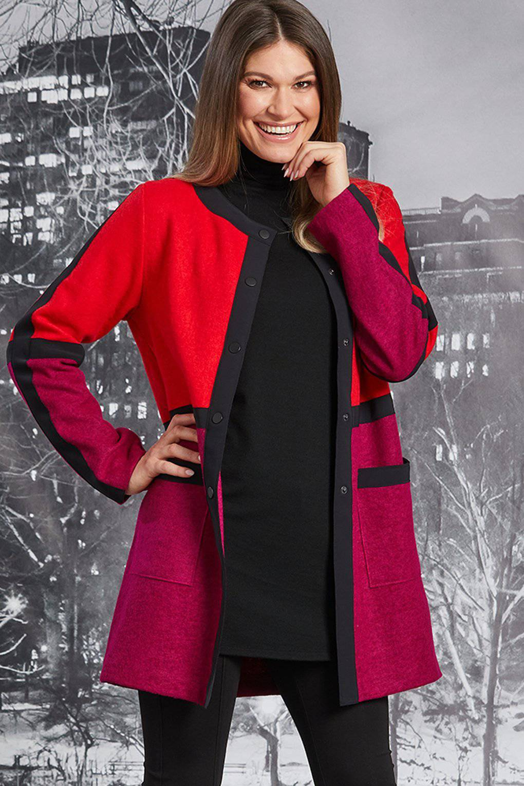PAULA RYAN Colour Block Coat - Paula Ryan