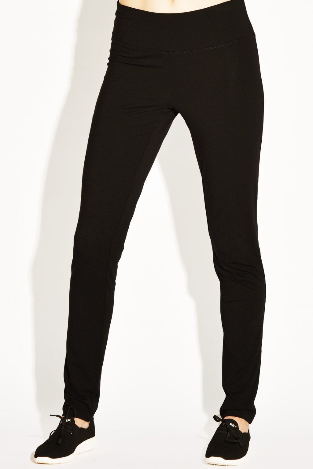 PAULA RYAN RELAXED Slim Leg Long Weekend Pant - Cashmere Modal 6750C-Black-XS Pant
