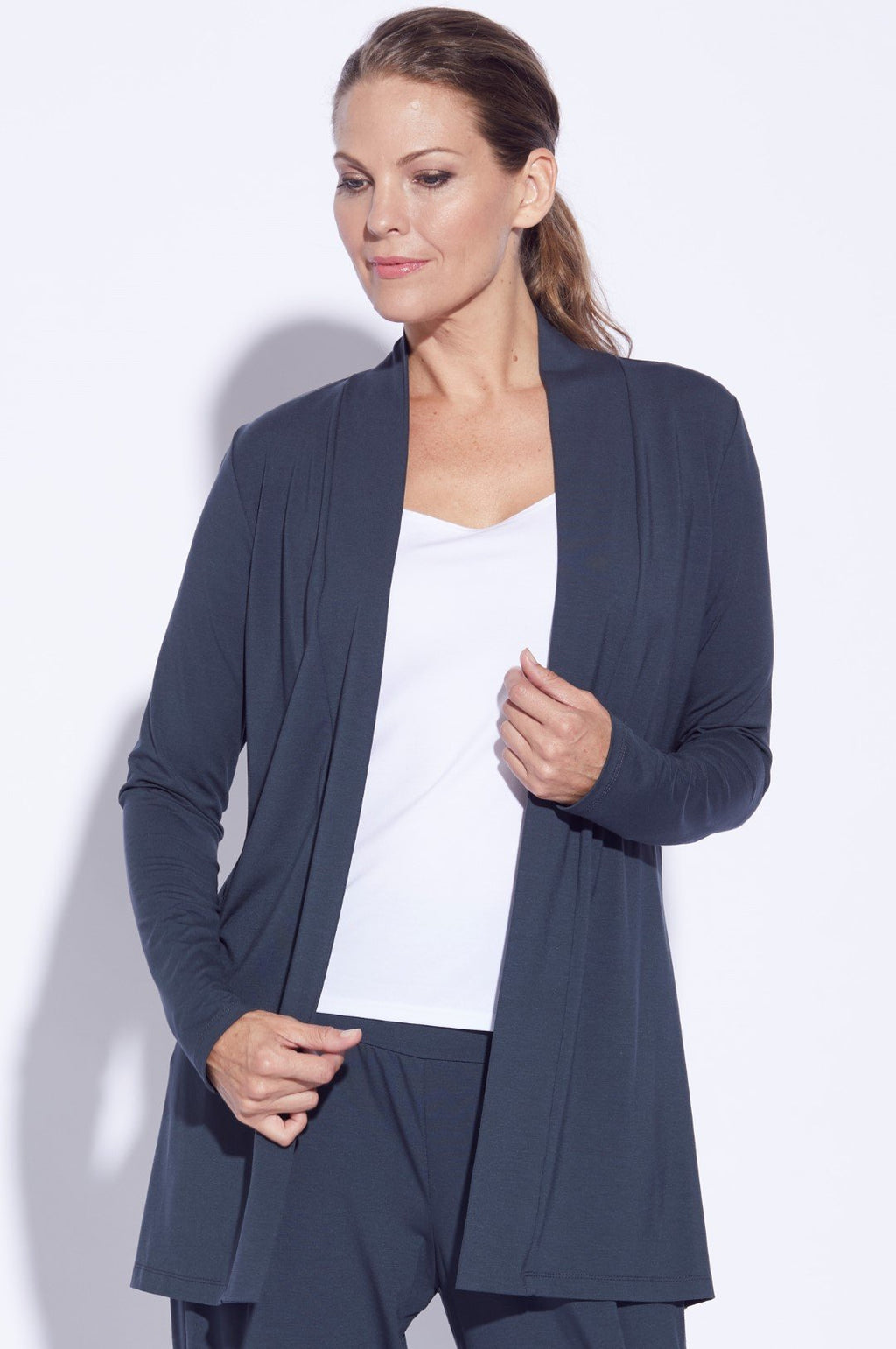 PAULA RYAN ESSENTIALS Edge To Edge Waisted Cardigan - MicroModal - Cardigan - Paula Ryan Essentials - Paula Ryan