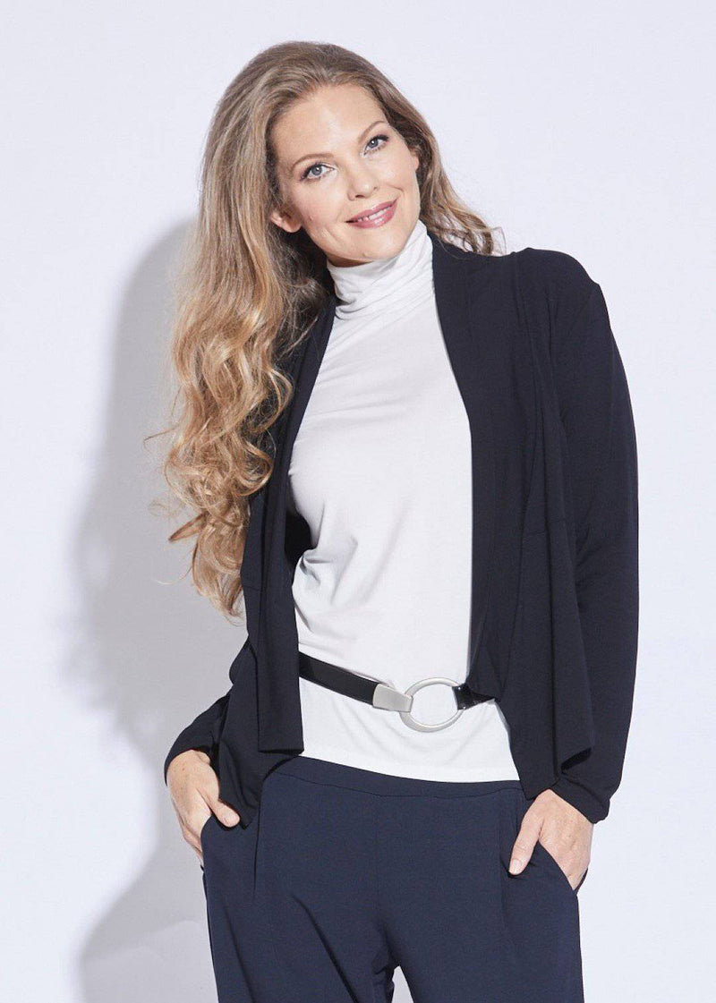 PAULA RYAN ESSENTIALS Soft Collar Cardigan - MicroModal - Jacket - Paula Ryan Essentials - Paula Ryan