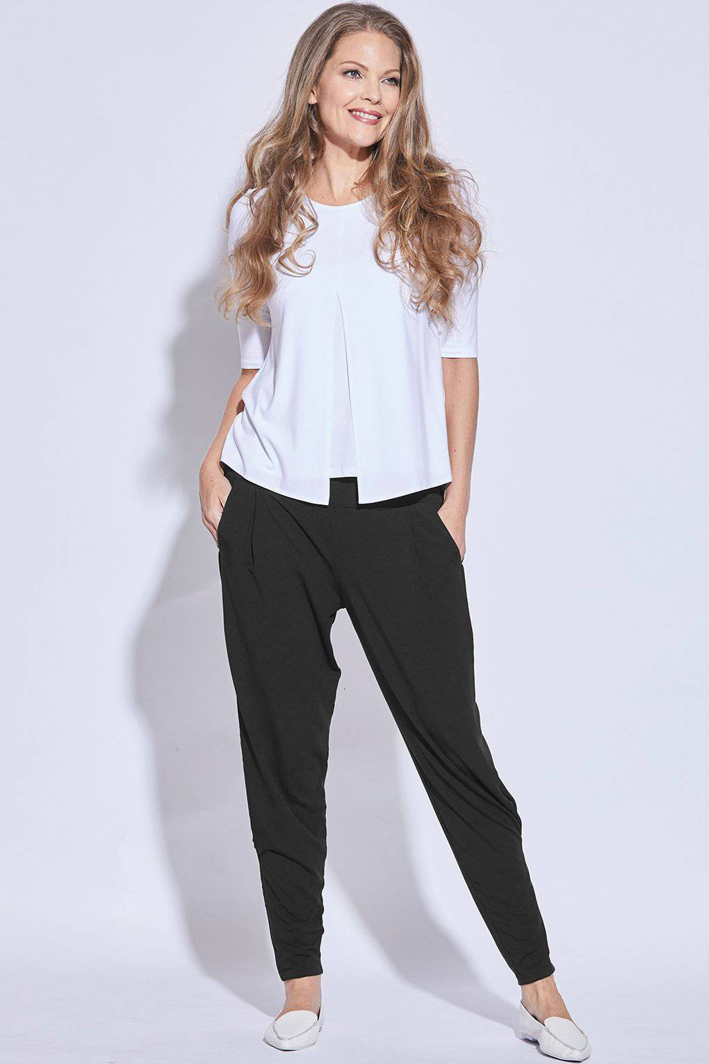 PAULA RYAN ESSENTIALS Ankle Pleat Basque Pant - MicroModal - Pant - Paula Ryan Essentials - Paula Ryan