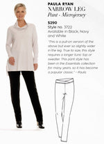 PAULA RYAN ESSENTIALS Narrow Leg Pant - Classic Microjersey - Paula Ryan