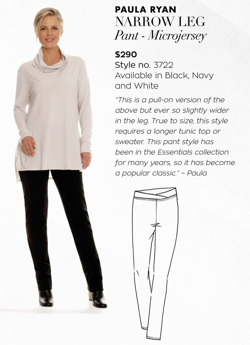 PAULA RYAN ESSENTIALS Narrow Leg Pant - Classic Microjersey - Pant - Paula Ryan Essentials - Paula Ryan