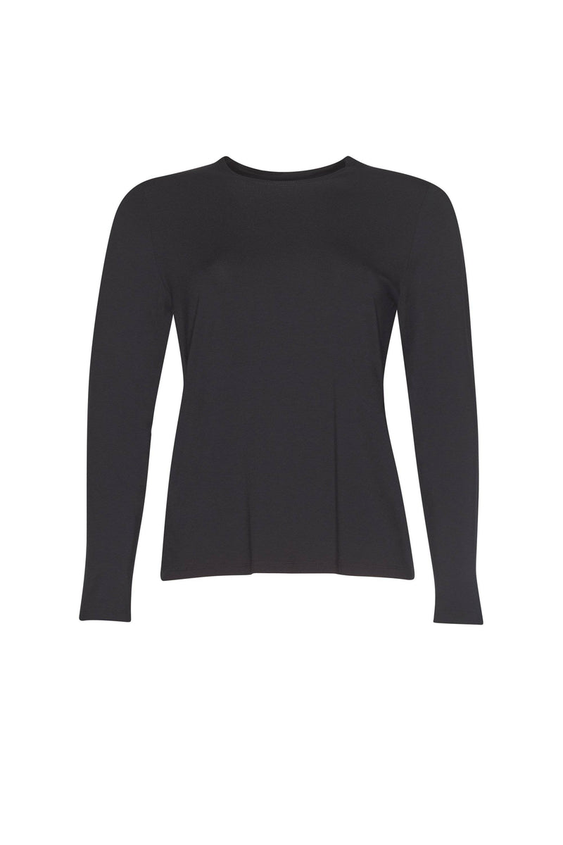 PAULA RYAN ESSENTIALS Easy Fit Long Sleeve Crew Neck Top - MicroModal - Paula Ryan