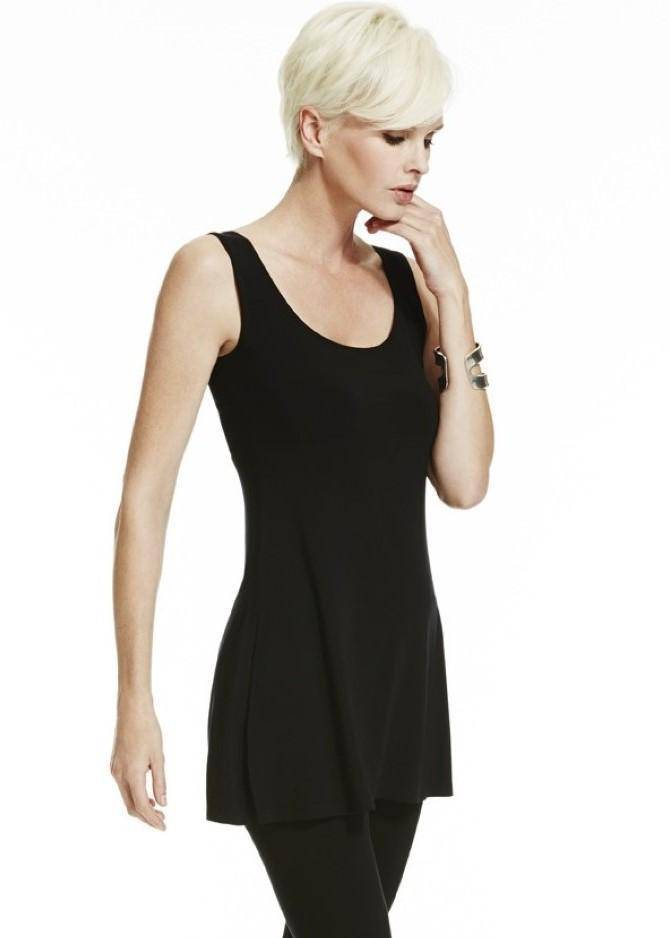 PAULA RYAN ESSENTIALS Slim Fit Side Split Long Singlet - MicroModal - Paula Ryan