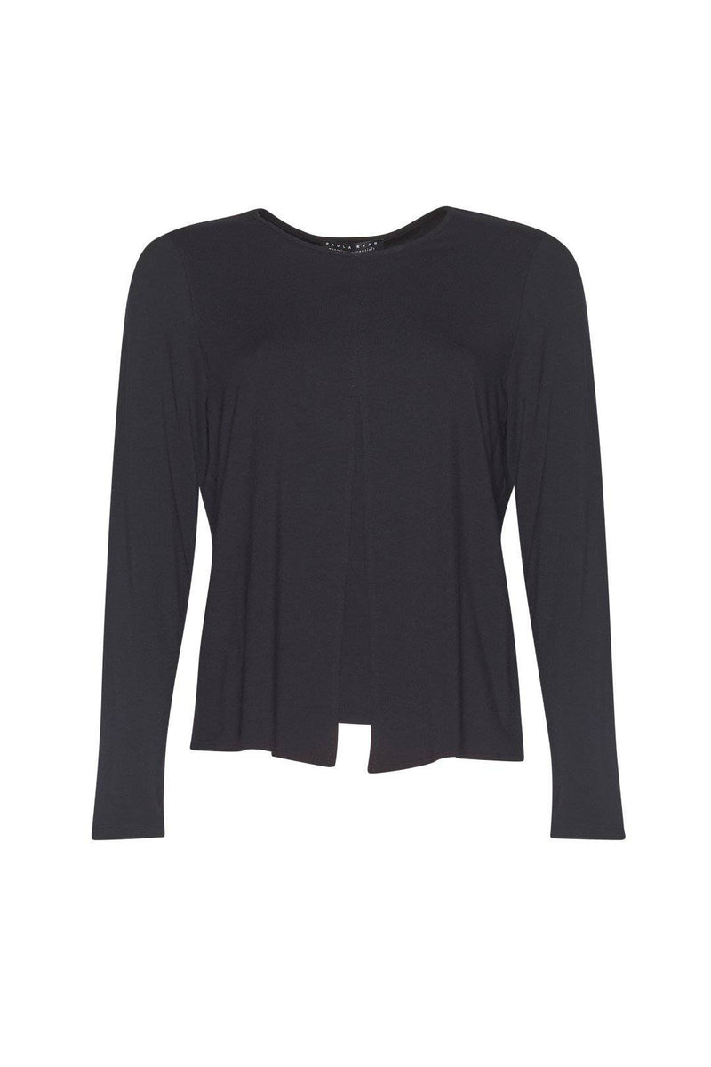 PAULA RYAN ESSENTIALS Box Pleat Long Sleeve Top - MicroModal - Paula Ryan