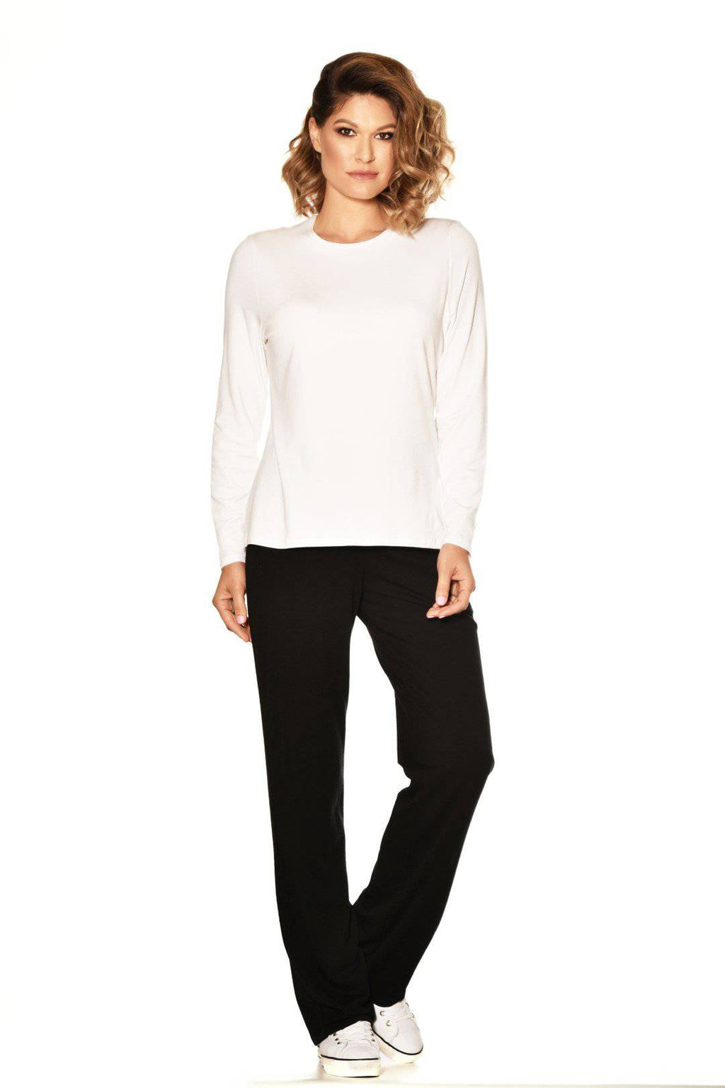 PAULA RYAN ESSENTIALS Easy Fit Long Sleeve Crew Neck Top - MicroModal - Top - Paula Ryan Essentials - Paula Ryan