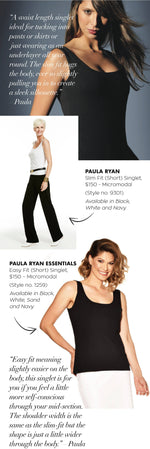 PAULA RYAN ESSENTIALS Easy Fit Singlet - MicroModal - Paula Ryan