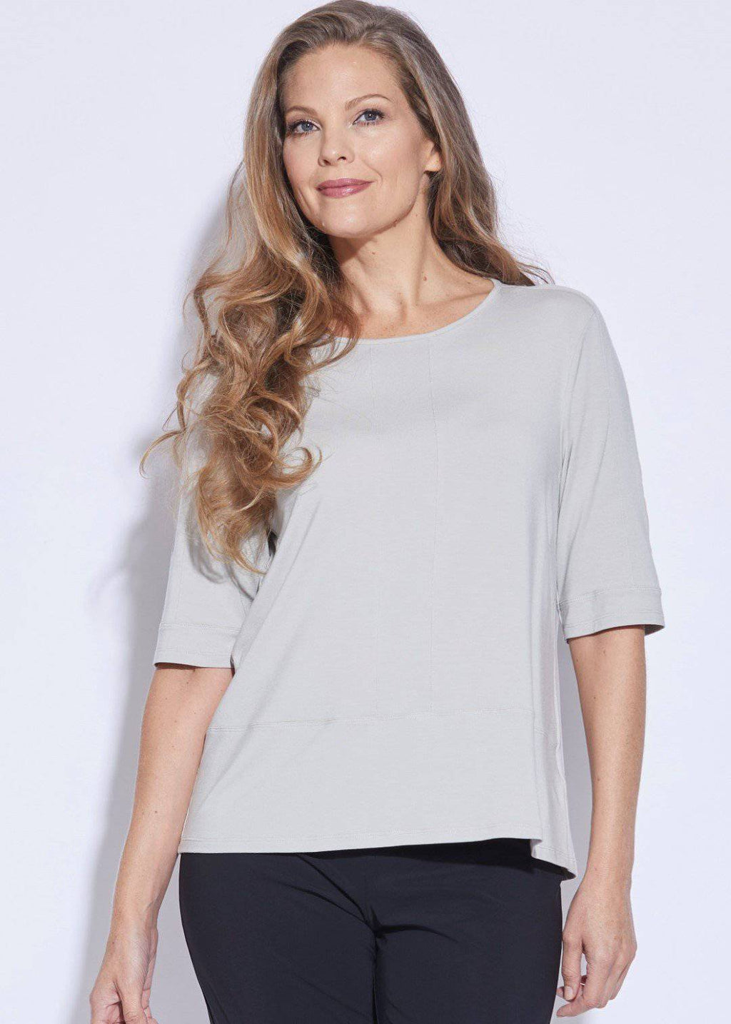 PAULA RYAN ESSENTIALS Panelled Half Sleeve Top - MicroModal - Paula Ryan