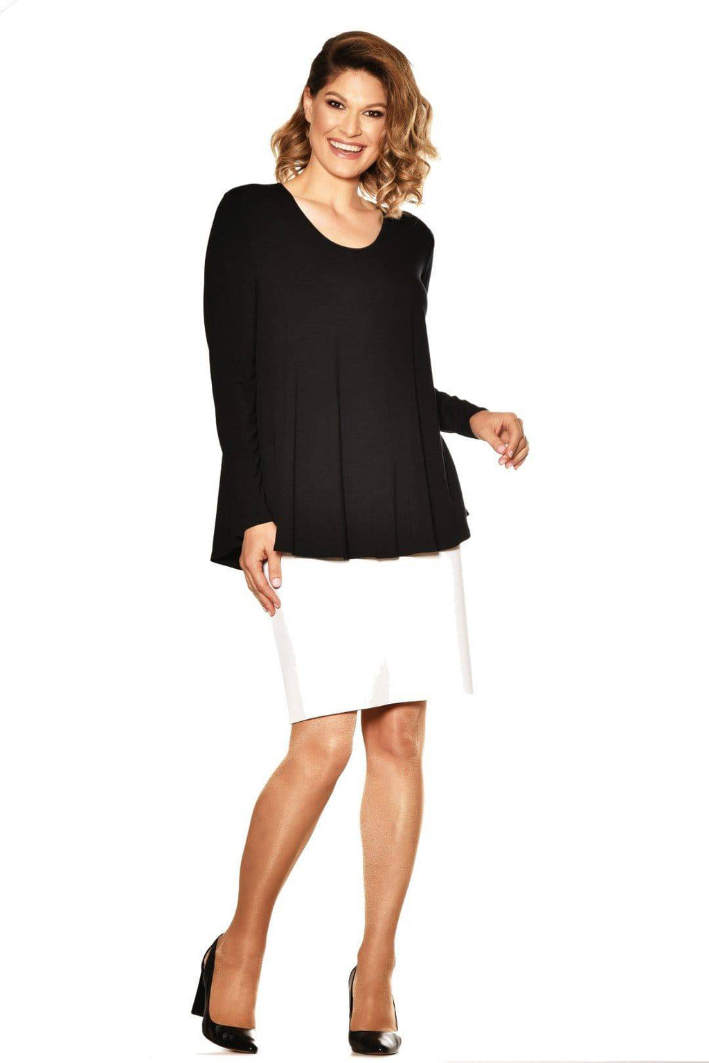 PAULA RYAN ESSENTIALS Scoop Neck Long Sleeve Swing Tunic - MicroModal - Paula Ryan