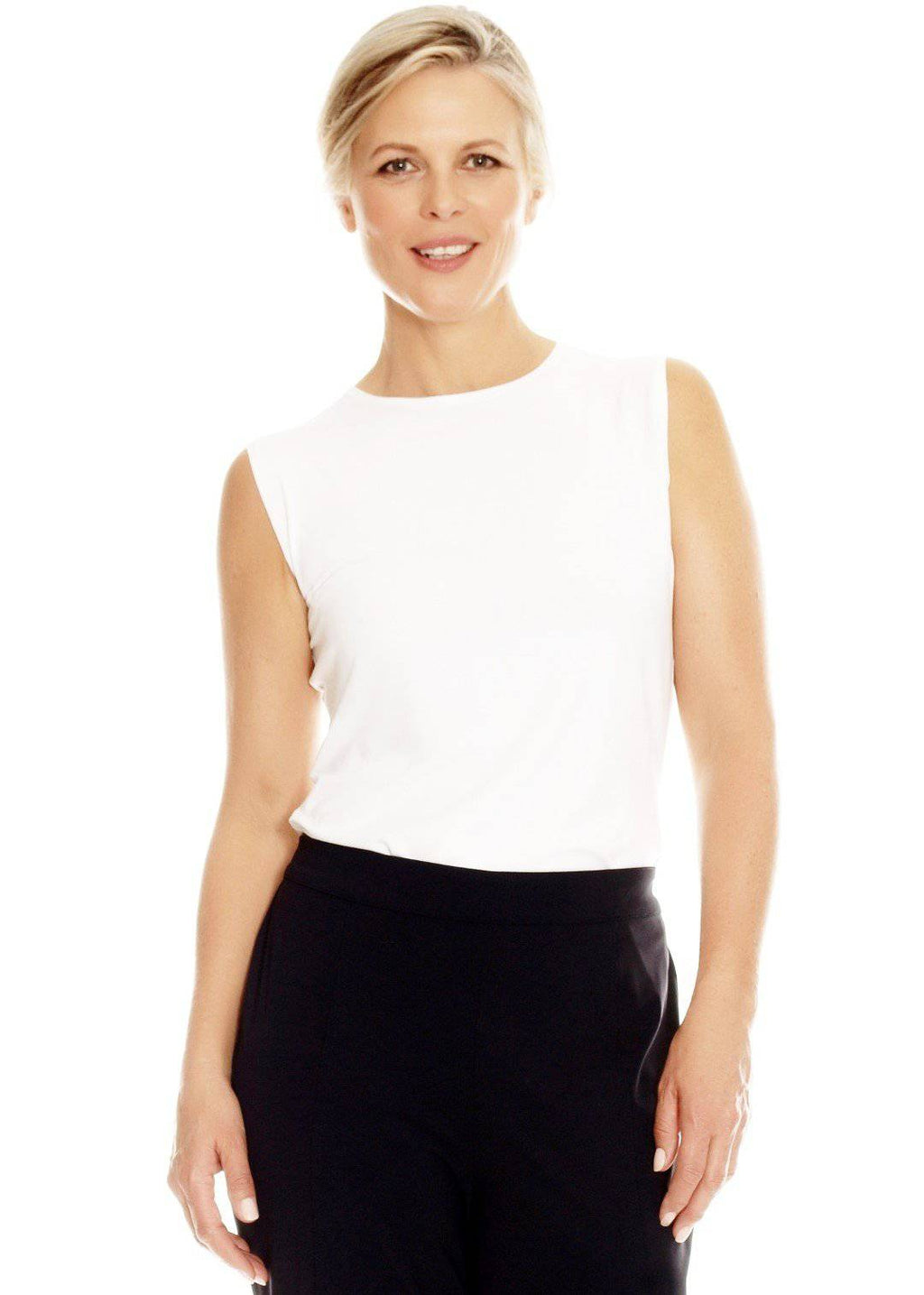 PAULA RYAN ESSENTIALS Slim Fit Sleeveless Crew Neck Top - MicroModal - Top - Paula Ryan Essentials - Paula Ryan