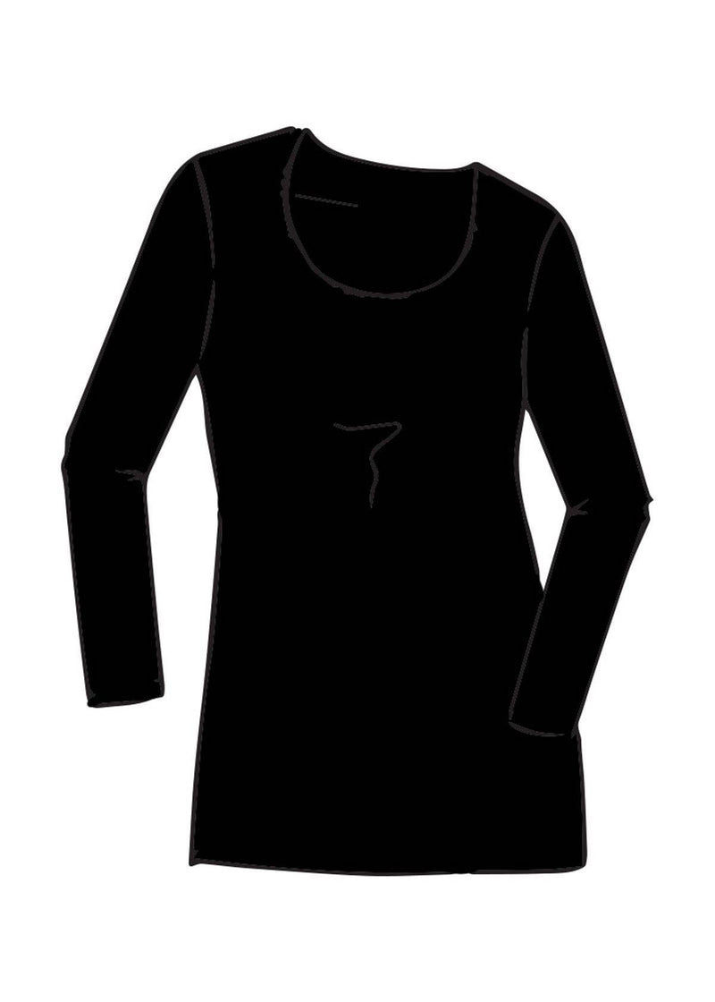 PAULA RYAN Scoop Neck Mid Length Tunic - Merino - Tunic - Paula Ryan Fashion Collection - Paula Ryan